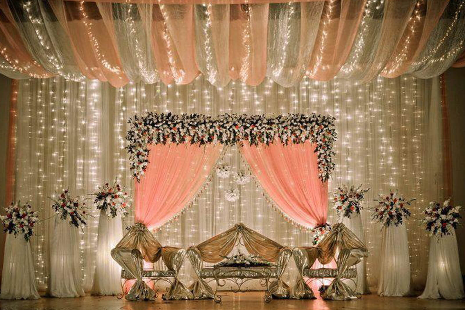 8 Stunning Stage Decor Ideas That Will Transform Your Reception Space for Indian Wedding Light Decoration  575lpg