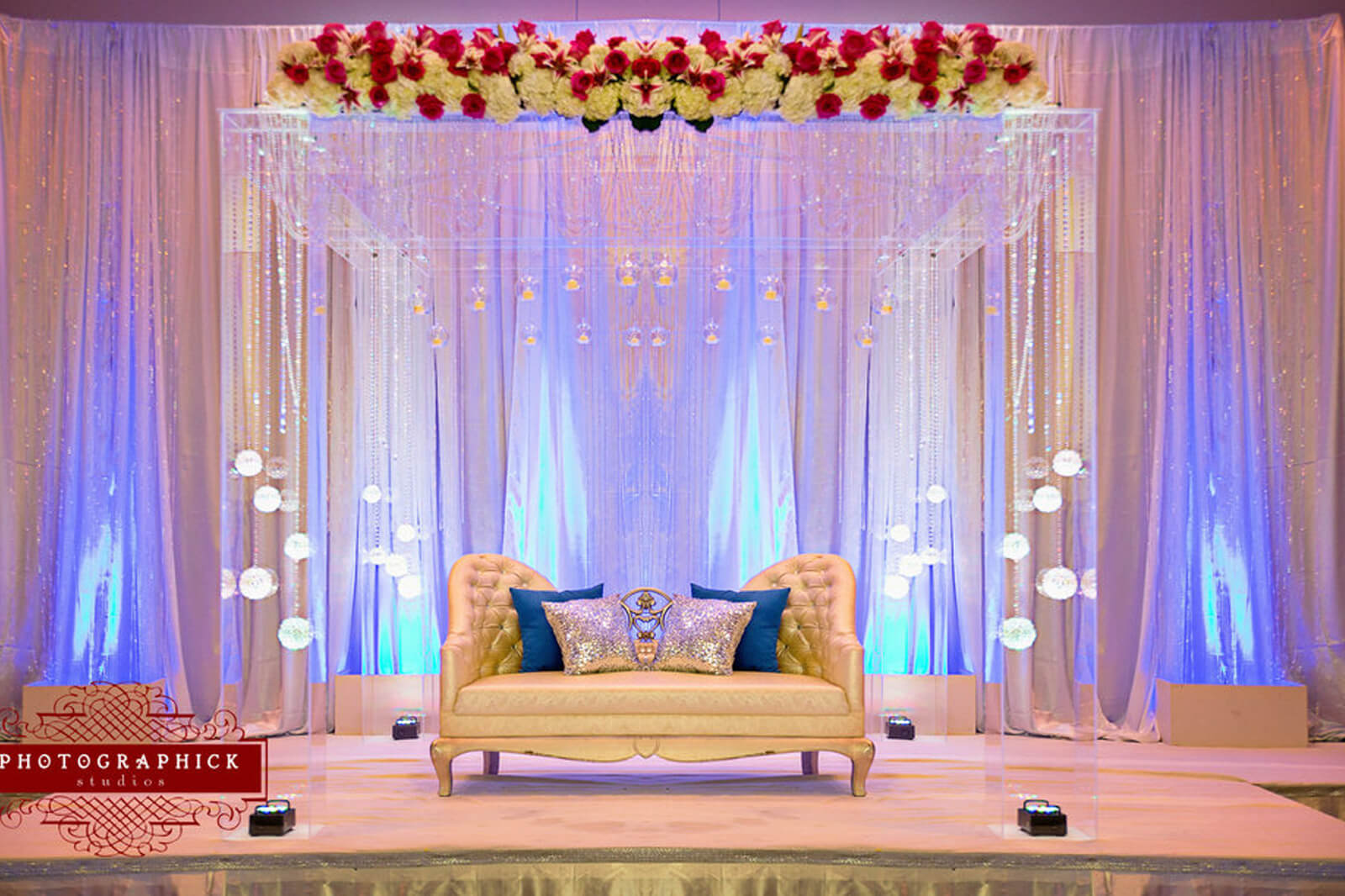 8 stunning stage decor ideas that will transform your reception space indian wedding decorations junglespirit Image collections