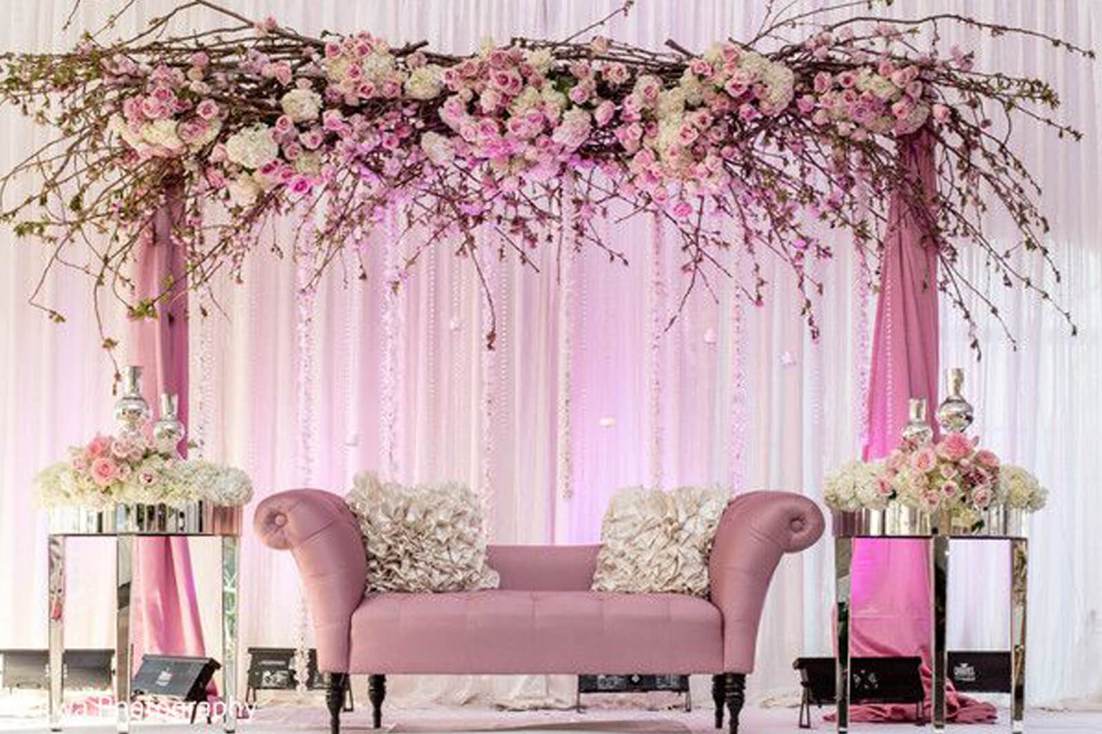 8 stunning stage decor ideas that will transform your for Wedding interior decoration images