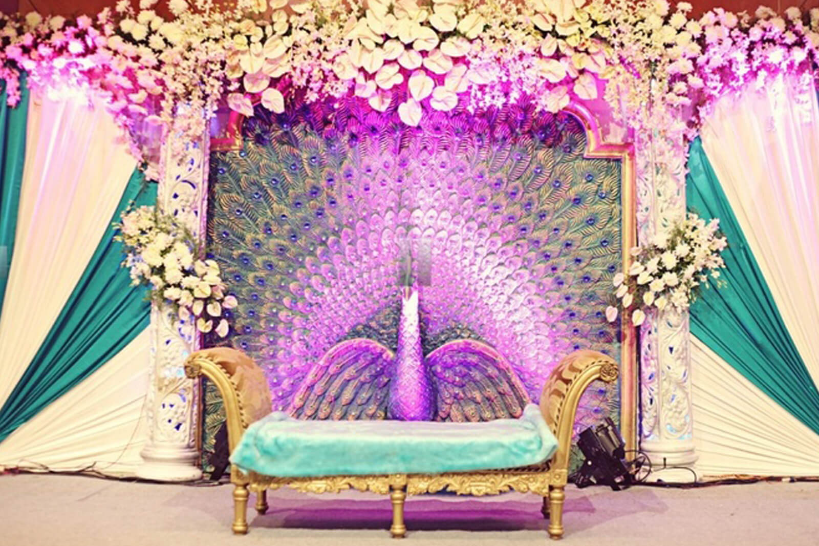10 trending color schemes you need to consider for your wedding indian wedding decorations junglespirit Choice Image