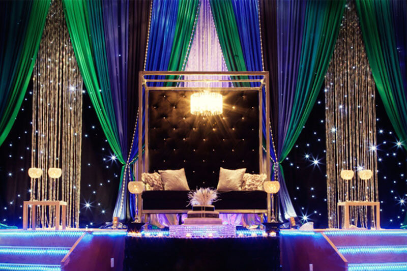 Indian wedding decorations 10 themes you should know for Background decoration for indian wedding