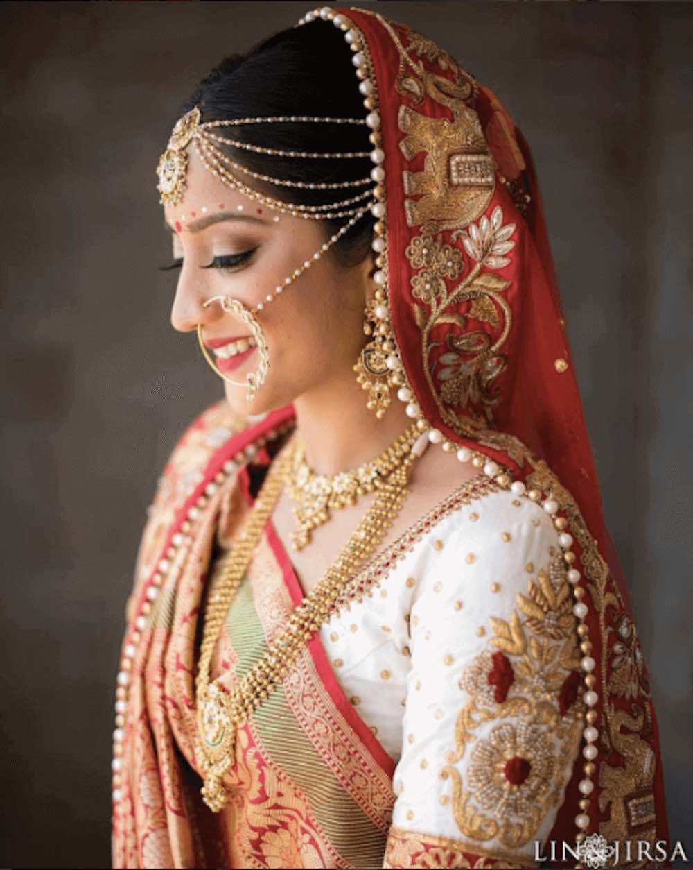 11 surprisingly elegant ways to style your maang tikka to for Bride groom dresses for indian wedding