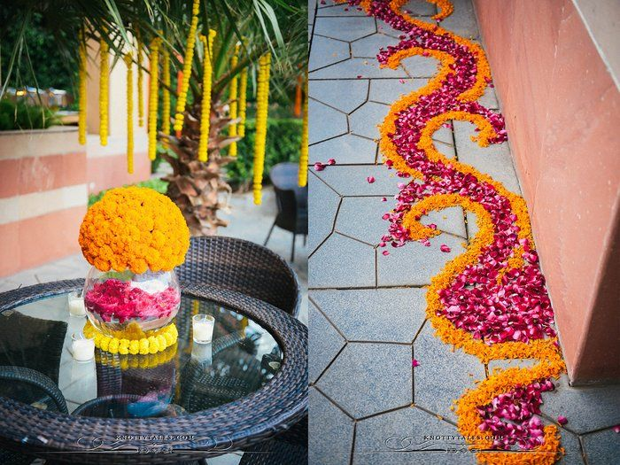 7 diy home decor ideas for roka ceremony indian wedding buzz enchanting floral strings junglespirit Image collections