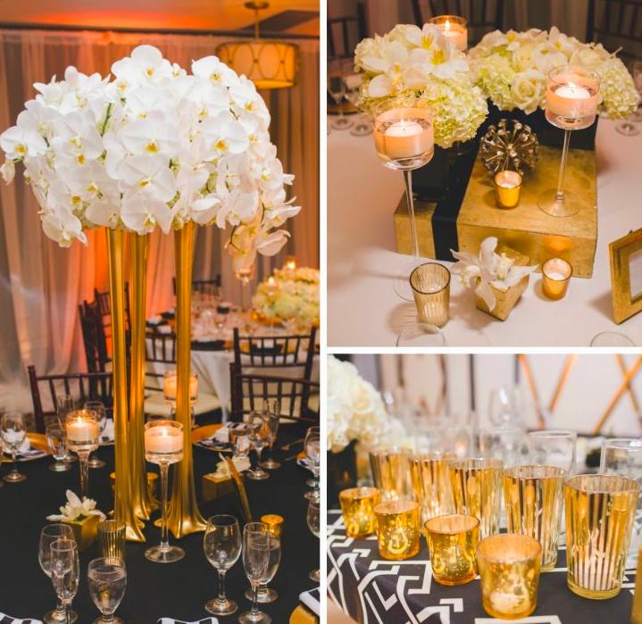 gold indian wedding decor theme